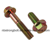 Hex Flange Head Bolt DIN6921 YELLOW ,China flange bolt factory ,China flange bolt manufacturer