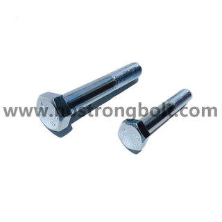 DIN931 Hex Bolt CL.8.8 With Zinc China hex bolt factory China bolt manufacturer