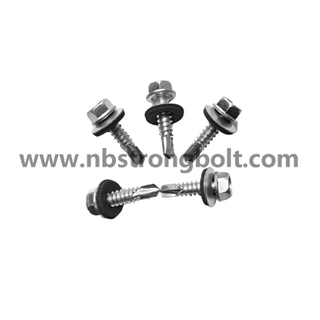 Hex Washer Head Self Drilling Screw with Bonded Washer Head Painted/China self drilling screw factory,China screw factory