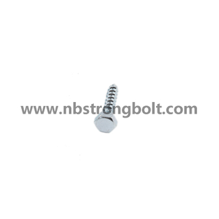 DIN571 Hex Head Lag Screw with Zinc Plated/China wood Screw factory,China wood Screw manufacturer