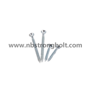 Torx Head Double Countersunk Chipboard Screw with Long Mill/China chipboard screw factory,China chipbopard screw manufacturer