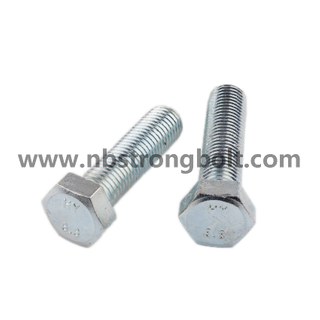 Hex Bolts DIN933 Cl. 8.8 HDG/China hex bolt factory,China hex bolt manufacturer