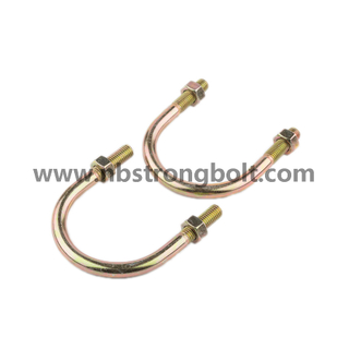 U Bolt with Yellow Zinc Plated DIN3570/China U type bolt factory,China bolt manufacturer