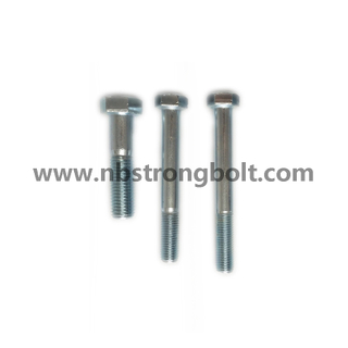 DIN931 Hex Bolt Cl. 8.8 with White Zinc Plated Cr3+/China hex Bolt manufacturer,China bolts factory,China hex bolts factory