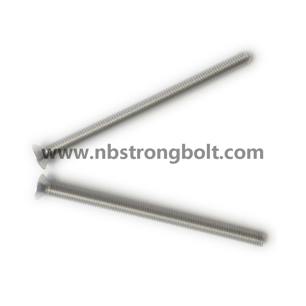DIN965 Ph Cross Recessed Countersunk Flat Head Screws, Machine Screws M4X30 with Zinc Plated/China machine screw factory,China machine screw manufacturer