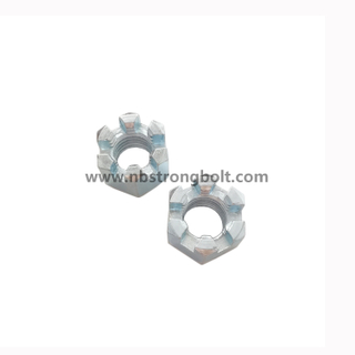 Hexagon Slotted Nuts and Castle Nuts with Class 8/China hex nut factory