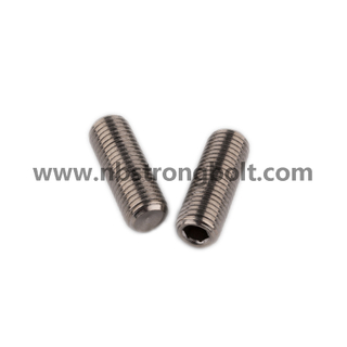 DIN913 Stainless Steel Hex Socket Set Screw with Flat Point/China hex socket set screw factory,China screw factory