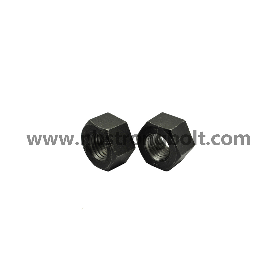 DIN934 Hex Nut Class 8 with Black M14/China hex nut factory,China hex nut manufacturer