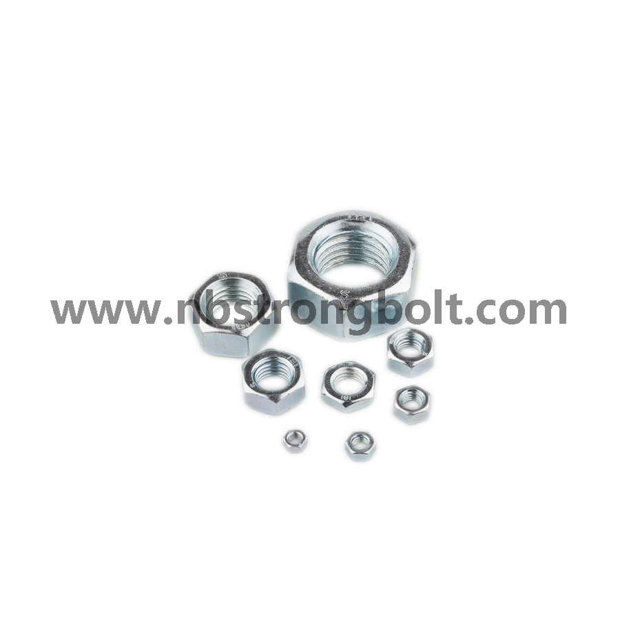 Hex Nylon Lock Nut with White Ring/China nylon lock nut factory,China nut manufacturer