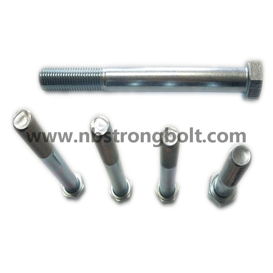 DIN931 Hex Bolt with Cl. 8.8 White Zinc Plated/China hex Bolt manufacturer,China bolts factory,China hex bolts factory
