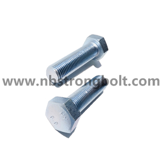 DIN933 Hex Bolt CL.8.8 With Zinc China hex bolt factory China bolt manufacturer