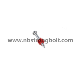 "High-Strength Shooting Nails with Red Washer with Yellow Zinc Plated 3.7X1.3/4""/China shooting nail factory,China shooting nail manufacturer"