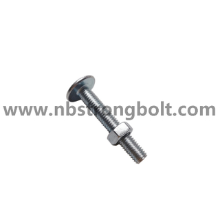 Mushroom Head Roofing Bolt with Nut/China hex bolt factory,China bolt manufacturer