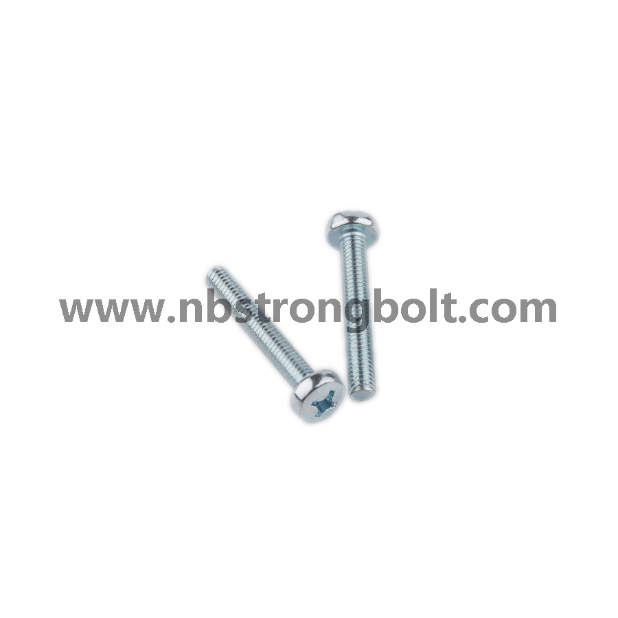 DIN7985 Ph Cross Recessed Raised Cheese Head Screws, Machine Screws M3X5 with Zinc Plated/China screw factory,China screw manufacturer