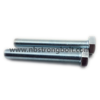 DIN933 Hex Bolts Cl. 4.8 with White Zinc Plated Cr3+ M24X100/China hex Bolt manufacturer,China bolts factory,China hex bolts factory
