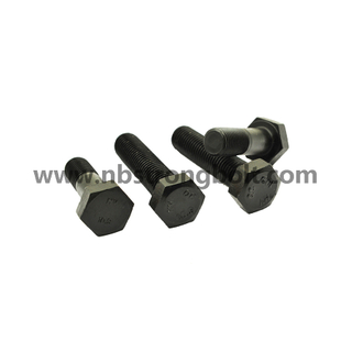 DIN933/DIN931 Hex Bolts Gr. 10.9 Black,China manufacturer,China bolts factory