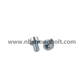 Hex Socket Flange Screw with Zinc/China flange screw factory,China screw manufacturer