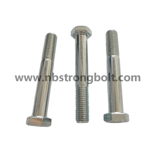 DIN931 Hex Cap Screw Gr. 10.9 with Withe Zinc Plated/China hex Bolt manufacturer,China bolts factory,China hex bolts factory