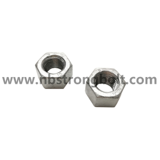 ISO4033 Hex High Nut Cl.10 With HDG-OVS M16 + 20/China customized nut factory China custonmized nut manufacturer