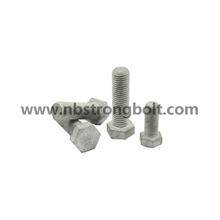 Hex Bolts Cl. 8.8 DIN931 HDG with Hole/China hex bolts factory ,China hex bolts manufacturer