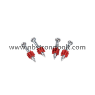 High-Strength Shooting Nail with Red Washer/China shooting nail factory,China shooting nail manufacturer