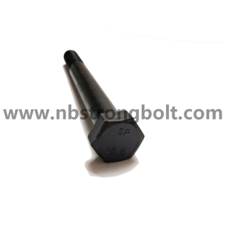 DIN931 Hex Bolt Half Thread Cl.10.9 With Black China hex bolt factory China bolt manufacturer