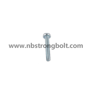 DIN7985 Ph Cross Recessed Raised Cheese Head Screws, Machine Screws M3.5X35 with Zinc Plated/China screw factory,China screw manufacturer