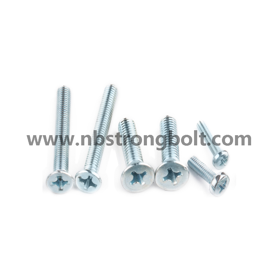 Machine Screw with Zinc Plated DIN7985/China screw factory,China screw manufacturer