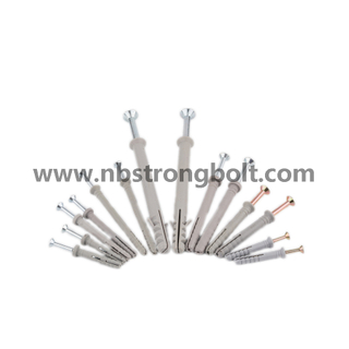 Nylon Hammer Drive Anchor with Round Head, Pre-Assembled/China nylon anchor factory/anchor nail ,China anchor screw factory