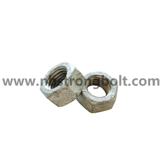 DIN934 Hex Nut With HDG / Hex Nut /China customized nut factory,China custonmized nut manufacturer